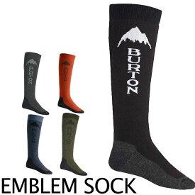 17-18 BURTON バートン MENS スノー ソックス 靴下 【Emblem Sock 】メンズ 「メール便不可」日本正規品【返品種別OUTLET】