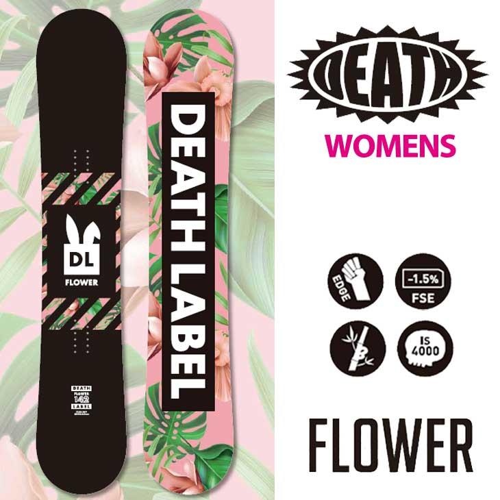 18-19 DEATH LABEL ( デスレーベル )レディース 【FLOWER 】 フラワー スノーボード 板 snow board 予約販売品