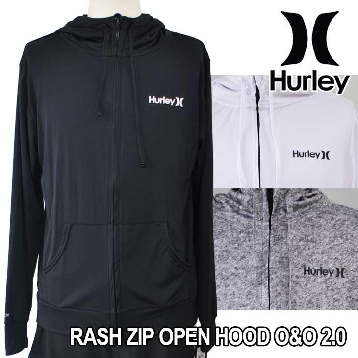 Hurley ハーレー ラッシュガード パーカー RASH ZIP OPEN HOOD O&O 2.0 (MKHZLY85) メンズ ジップ フード 長そで 長袖 春夏モデル 正規品