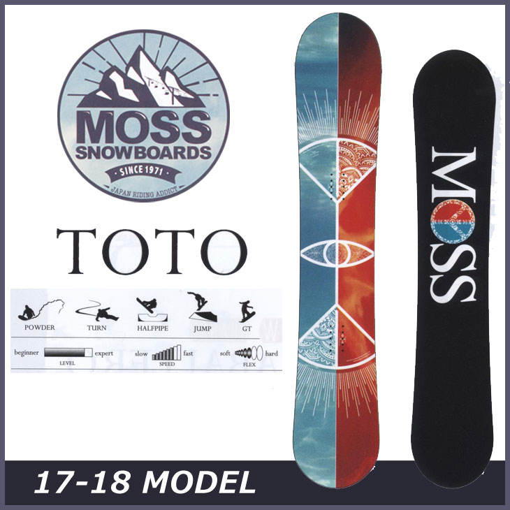 17-18 moss snowboards (モス )【TOTO】トト スノーボード 板 snow board