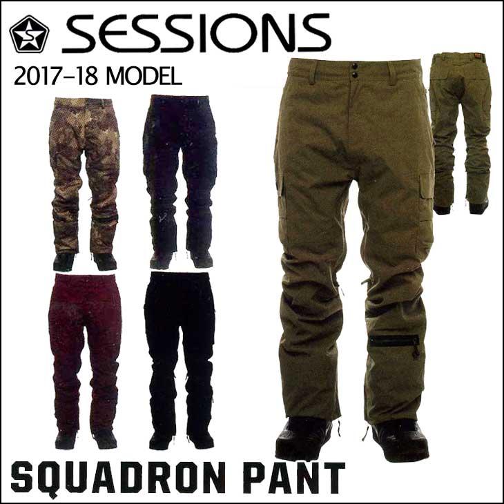 17-18 SESSIONS (セッションズ ) メンズ スノーボード ウエア 【SQUADRON PANT 】パンツ ウェア 日本正規品
