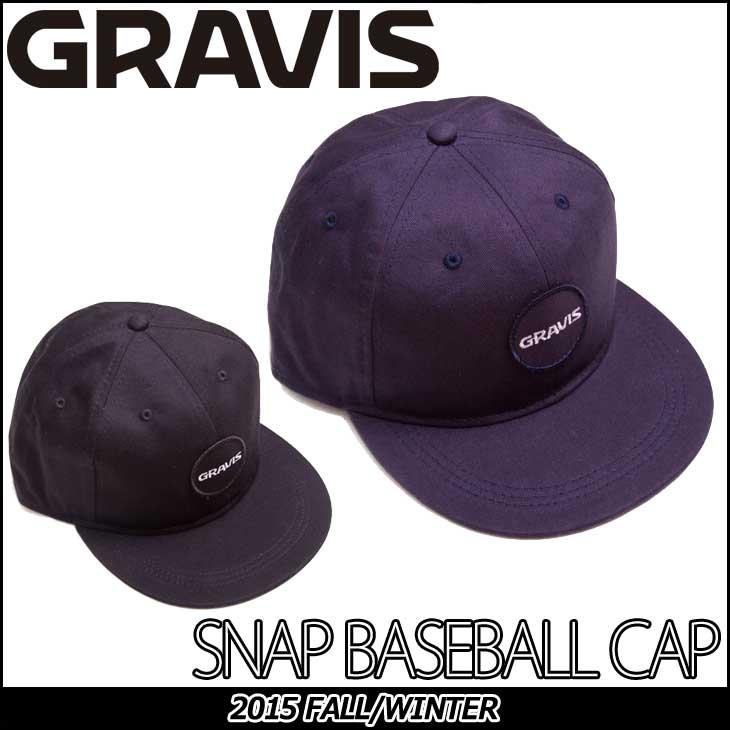 GRAVIS (グラビス )メンズ キャップ 【 SNAP BASEBALL CAP 】 帽子 CAP