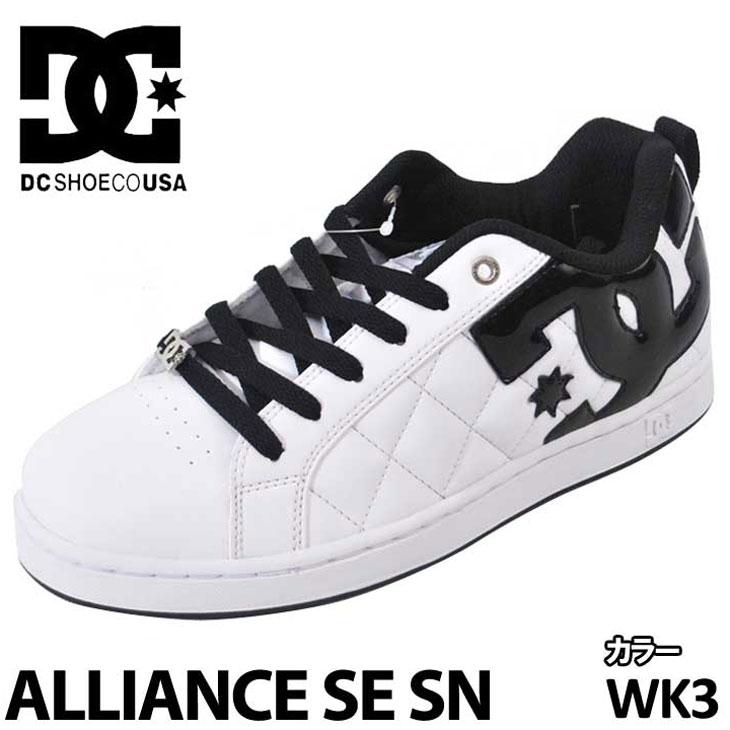 DC スニーカー ディーシー 【ALLIANCE SE SN 】 アライアンス 【White/Black/Basic 】 WK3