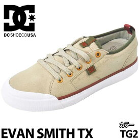 DC スニーカー ディーシー 【EVAN SMITH TX 】 エヴァンスミス 【Tan/Green 】 TG2
