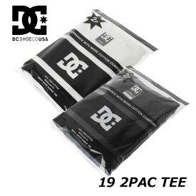 DC Tシャツ メンズ ディーシー パックティー【19 2PAC TEE 2枚組 】5226J933