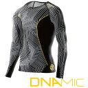 スキンズ メンズ ロングスリーブ トップ skins DNAmic COLLABO 【正規品】 コンプレッション インナー