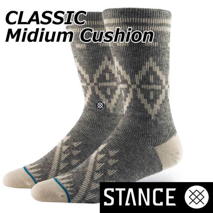 STANCE スタンス ソックス カジュアル 【CLASSIC Mideum Cushion 】 Wool Blend クルー ふくらはぎ丈「メール便」