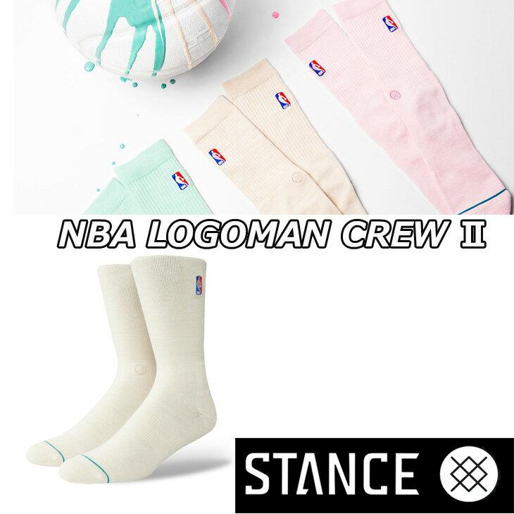STANCE スタンス ソックス NBA カジュアル【NBA LOGOMAN CREW 2】 combed cotton ふくらはぎ丈「メール便」