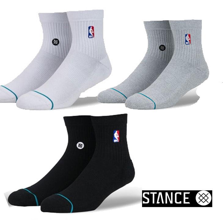 STANCE スタンス ソックス NBA カジュアル【NBA LOGOMAN QTR】 combed cotton ショート「メール便」