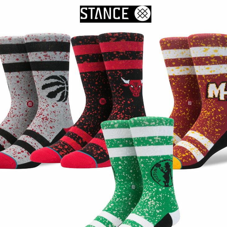 STANCE スタンス ソックス NBA カジュアル【OVERSPRAY】 combed cotton ふくらはぎ丈「メール便」