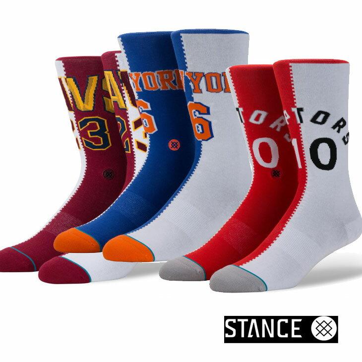 STANCE スタンス ソックス NBA カジュアル【SPLIT JERSEY】 combed cotton ふくらはぎ丈「メール便」