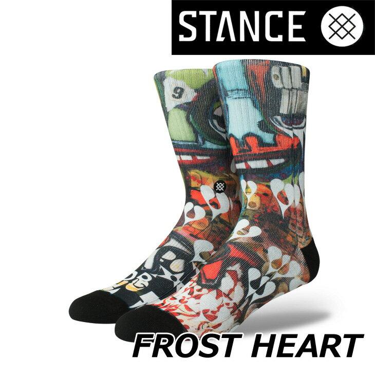 STANCE スタンス ソックス アーティストシリーズ 【FROST HEART】ナイロンブレンド クルー ふくらはぎ丈「メール便」