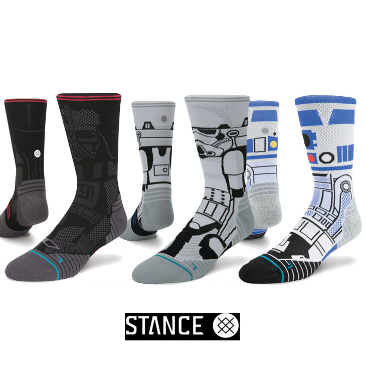 STANCE スタンス STARWARS×STANCE コラボソックスランニング クルー 「メール便」