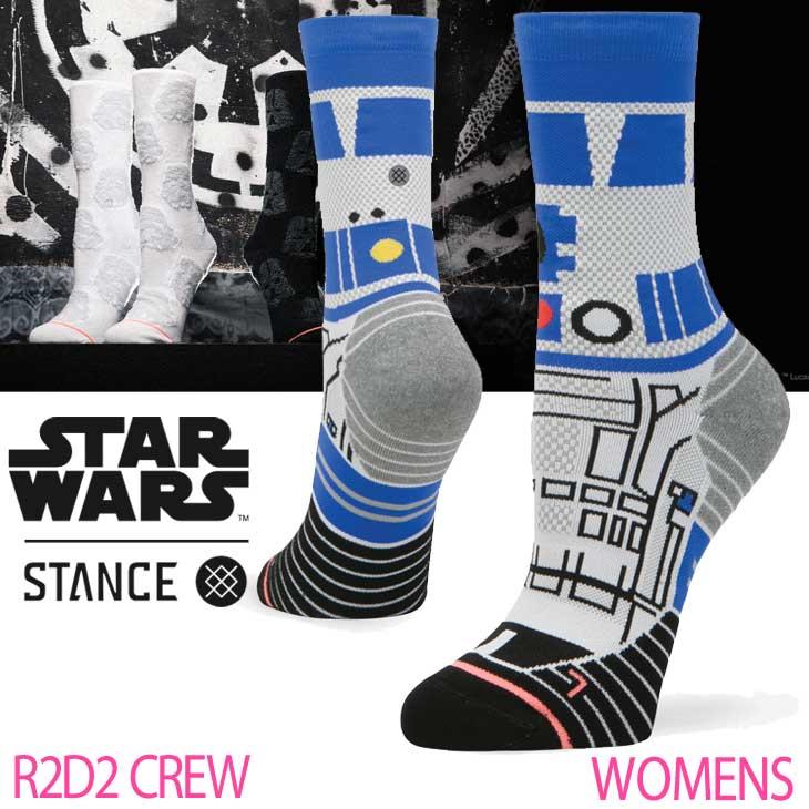 STANCE スタンス レディース ソックス STARWARS×STANCE 公式コラボレーションソックス 【R2D2 CREW 】 ランニング クルー 「メール便」