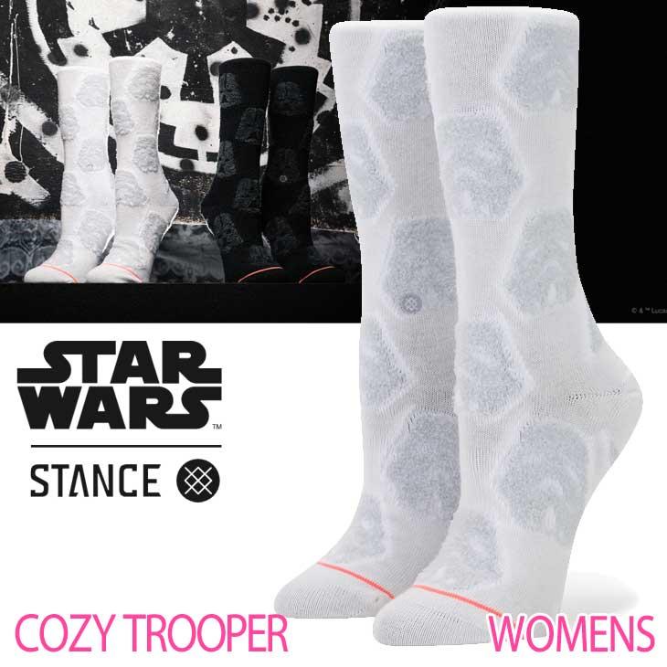 STANCE スタンス レディース ソックス STARWARS×STANCE 公式コラボレーションソックス 【COZY TROOPER 】 ふくらはぎ丈