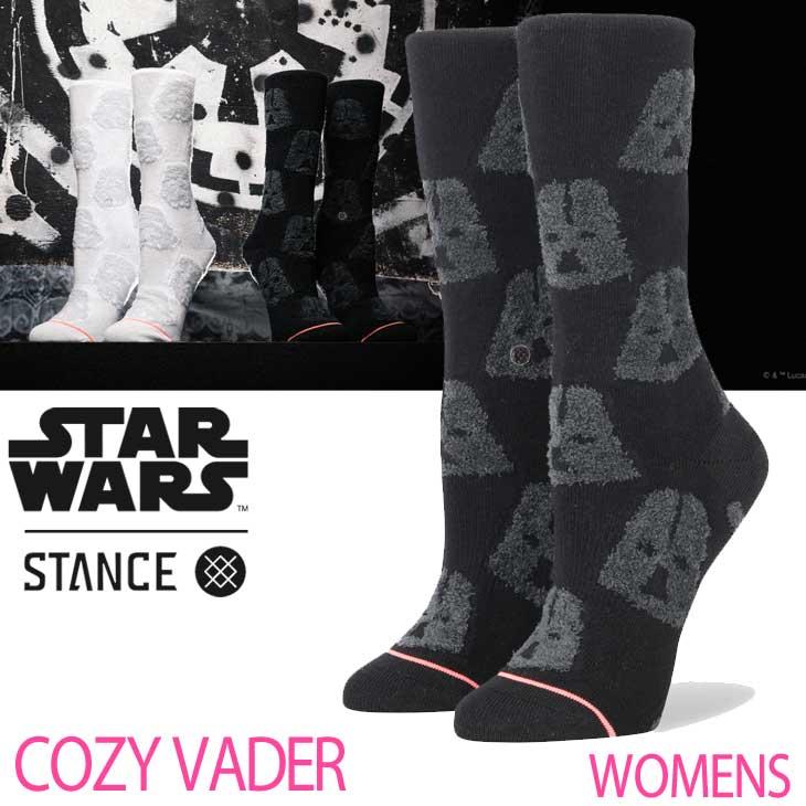 STANCE スタンス レディース ソックス STARWARS×STANCE 公式コラボレーションソックス 【COZY VADER 】 ふくらはぎ丈