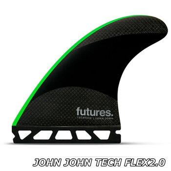 フューチャーフィンFUTURESFINサーフボードフィン【JOHNJOHNTECHFLEX2.0】Mサイズ(3本)正規品【送料無料】