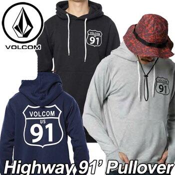 volcomJapanLimitedボルコムパーカーメンズプルオーバー【新作】【Highway91'Pullover】長袖フリースフードVOLCOMヴォルコム【あす楽_年中無休】【送料無料】