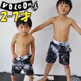 VOLCOM ボルコム キッズ 水着 【Y【PartyPack Marble Elastic Waist Little Youth 】Kids サーフパンツ3-7才向け 【返品種別OUTLET】