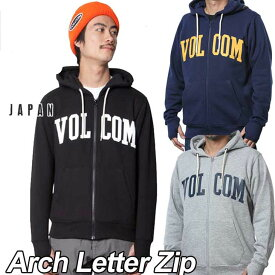volcom Japan Limited ボルコム パーカー ジップ メンズ 【Arch Letter Zip 】長袖 フリース フードVOLCOM 【返品種別OUTLET】
