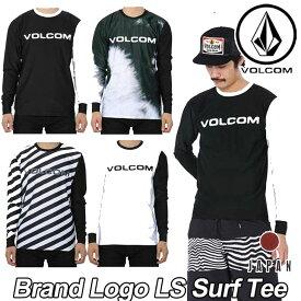 volcom ボルコム ラッシュガード JapanLimited メンズ サーフ ラッシュ Tシャツ 水着 【Brand Logo LS Surf Tee 】 長そで VOLCOM 【返品種別OUTLET】