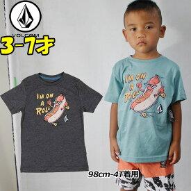 VOLCOM ボルコム キッズ tシャツ 【On A Roll S/S 】Kids ティーシャツ 3-7才向け(100/110/120/130/140 cm )【半袖】 「メール便可」【返品種別OUTLET】