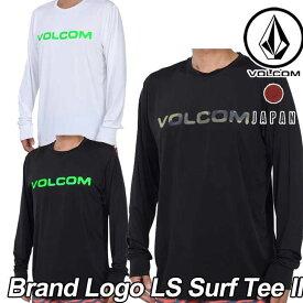 volcom ボルコム ラッシュガード JapanLimited メンズ サーフ ラッシュ Tシャツ 水着 【Brand Logo LS Surf Tee II 】 長そで VOLCOM 【メール便不可】【返品種別OUTLET】