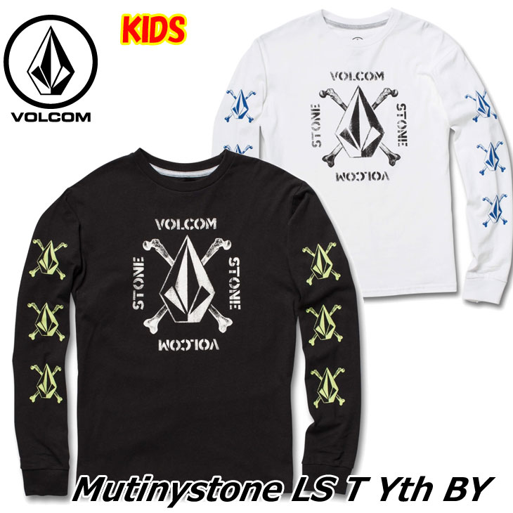 volcom ボルコム キッズ Tシャツ 8-14歳 Mutinystone L/S Tee BY ユース 長そで C3641830 【返品種別OUTLET】