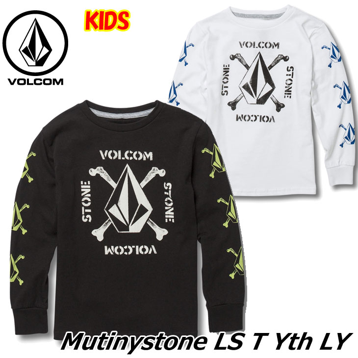 volcom ボルコム キッズ Tシャツ 3-7歳 Mutinystone L/S Tee LY ユース 長そで Y3641802 【返品種別OUTLET】