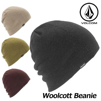 18-19VOLCOMボルコムメンズビーニースノーボード【WoolcottBeanie】J5851902予約販売品