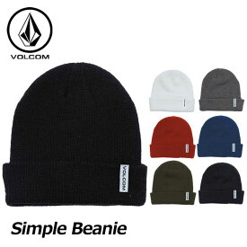 18-19 VOLCOM ボルコム メンズ ビーニー スノーボード 【Simple Beanie 】 JapanLimited J58519JC 【返品種別OUTLET】