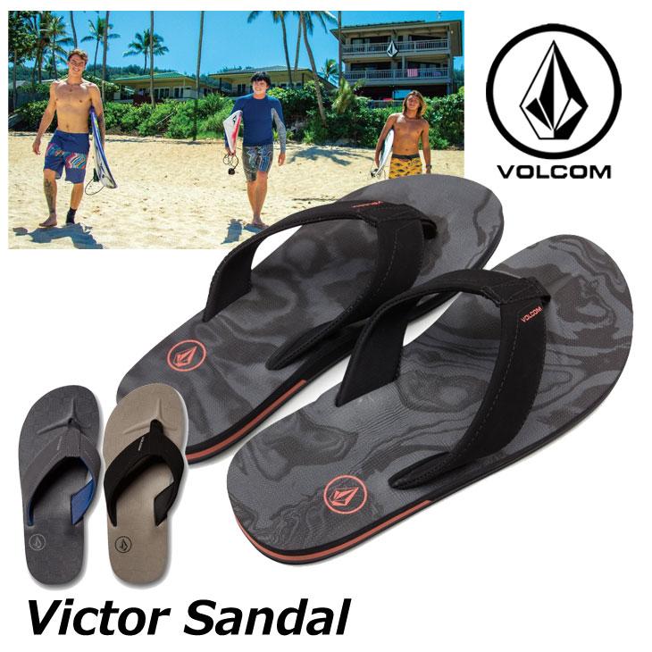 volcom ボルコム ビーチサンダル Victor Sandal メンズ ビーサン V0811522 【返品種別OUTLET】