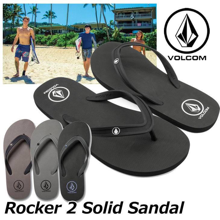 volcom ボルコム ビーチサンダル Rocker 2 Solid Sandal メンズ ビーサン V0811885 【返品種別OUTLET】