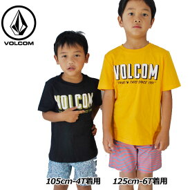 volcom ボルコム キッズ Tシャツ 3-7歳 Camp Stone S/S Tee Little Youth ユース 半そで Y3511833 【返品種別OUTLET】