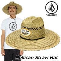 ボルコム麦わら帽子ストローハットメンズvolcom【HellicanStrawHat】ハットVOLCOMアウトドア帽子【メール便不可】