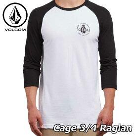 volcom ボルコム 七分丈tシャツ Cage 3/4 Raglan メンズ A4321804 【返品種別OUTLET】
