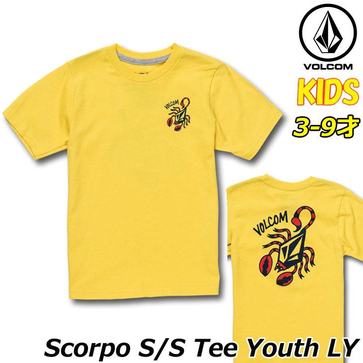 ボルコム volcom キッズ Tシャツ Scorpo S/S Tee LY 3-9歳 Y3511930