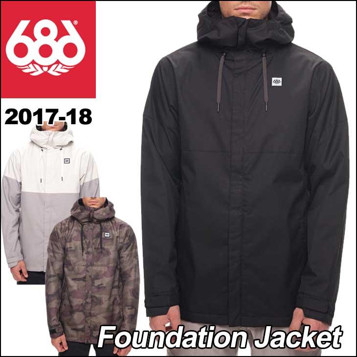 17-18 686 SIX EIGHT SIX (シックスエイトシックス ) メンズ スノーボード ウエア 【Foundation Jacket 】ジャケット ウェア 日本正規品 ship1