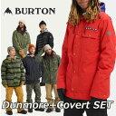 19-20 BURTON バートン メンズ スノーボード ウエア 上下セット 【Dunmore】JACKET+【Covert】PANT ship1