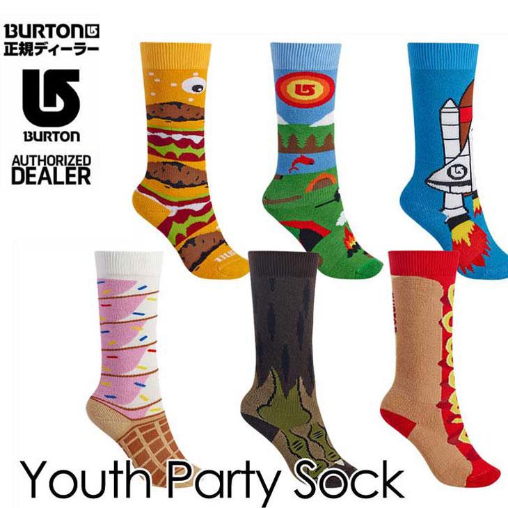 16-17 BURTON バートン KIDS スノー ソックス 靴下 【Youth Party Sock 】キッズ 【7-15才】小中学生向け 「メール便可」日本正規品 【返品種別SALE】