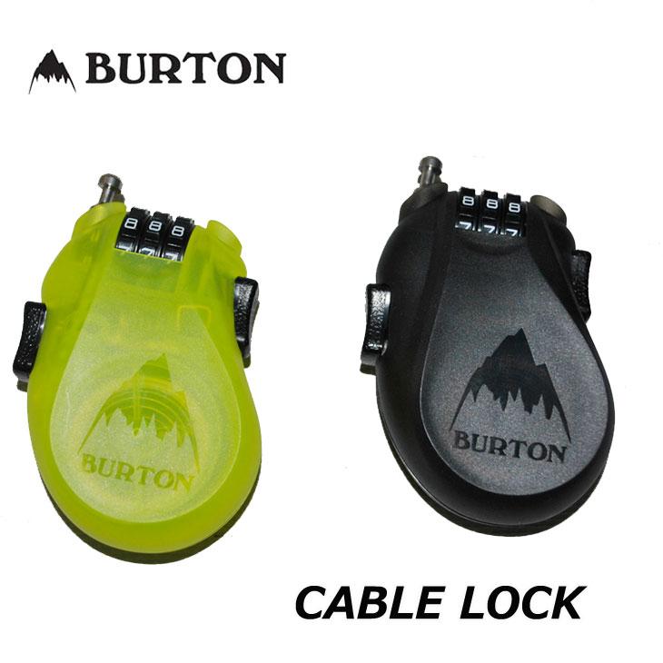 18-19 BURTON バートン 鍵 【CABLE LOCK 】 ケーブルロック スノーボード 「メール便不可」