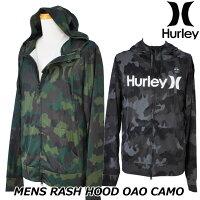 HurleyハーレーラッシュパーカーRASHHOODOAOCAMO(CJ6147)メンズ春夏モデル正規品