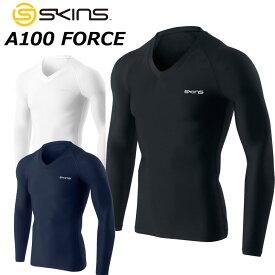 SKINS スキンズ メンズ ロングスリーブ A100 FORCE Vネックロングスリーブトップ 長袖 DF01419001