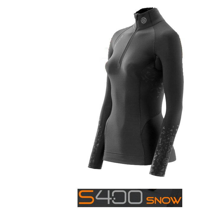 【60%OFF】【2013-14 保温モデル】SKINS (スキンズ ) S400 【ウィメンズ X-WARM ロングス リーブトップ モックネック ZIP】【冬用】[X-WARM]]【返品種別SALE】