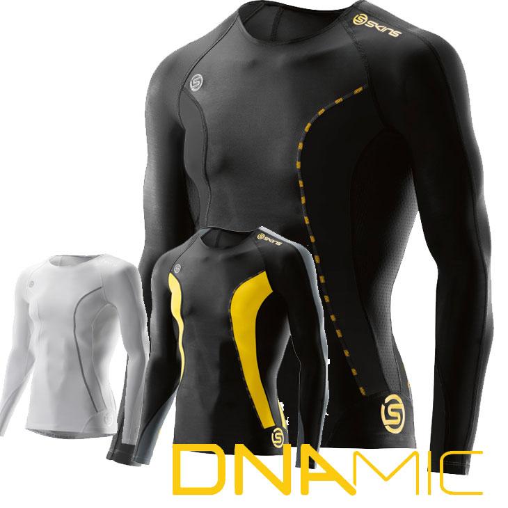 スキンズ メンズ ロングスリーブ トップ skins DNAmic コンプレッション 【正規品】DA05059033