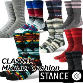 STANCE スタンス ソックス カジュアル 【CLASSIC Mideum Cushion 】 クルー ふくらはぎ丈「メール便」