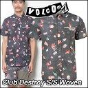 volcom ボルコム シャツ メンズ 【Club Destroy S/S Woven 】 半そで VOLCOM ヴォルコム 【あす楽_年中無休】【メール…