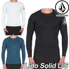 【訳アリ】VOLCOM ボルコム ラッシュガード メンズ サーフ 水着 【Lido Solid L/S 】 長そで 【返品種別OUTLET】