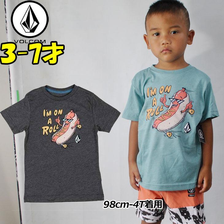 VOLCOM ボルコム キッズ tシャツ 【On A Roll S/S 】Kids ティーシャツ 3-7才向け(100/110/120/130/140 cm )【半袖】 Volcom 「メール便可」【返品種別OUTLET】