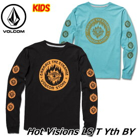 volcom ボルコム キッズ Tシャツ 8-14歳 Hot Visions L/S Tee BY ユース 長そで C3641831 【返品種別OUTLET】